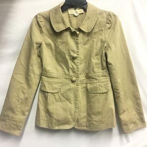 J Crew Khaki Chino Twill Jacket size 2